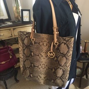 Michael Kors Large Snake Effect Tote
